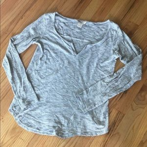 Lucky Brand Striped Long Sleeve Top